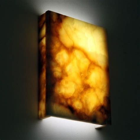 Stone Wall Sconce Hand Crafted Natural Marble Wall Lights Magma Onyx