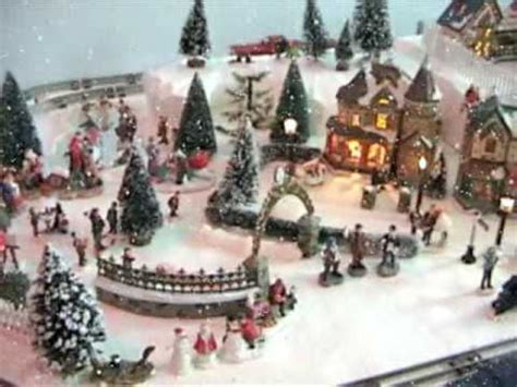 best christmas village with electric trains youtube