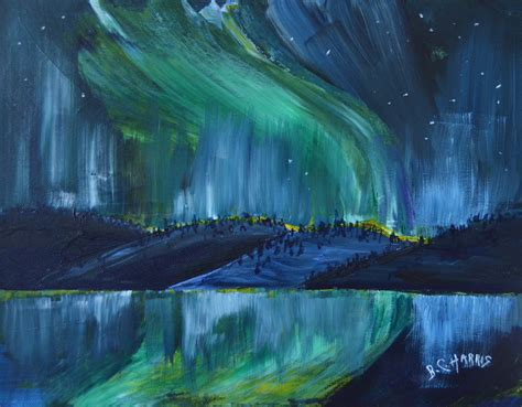 paint with a twist winter park northern lights paintings