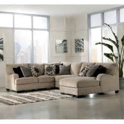 ashley furniture katisha sectional katisha platinum sectional w chaise signature design by