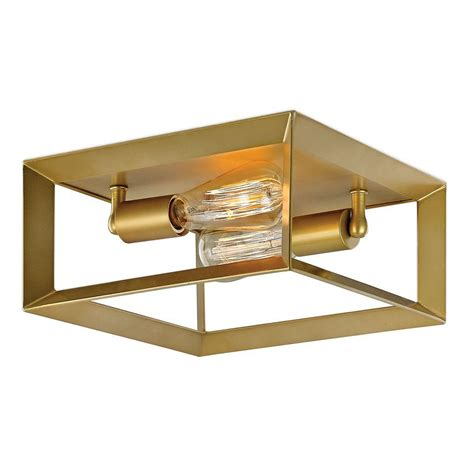 Gold Ceiling Lights Decor Living Maxime 2 Light Gold Painted Flush Mount 24604fm 024 The Home Depot
