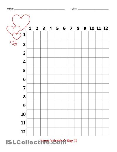 multiplication chart printable empty multiplication table worksheet blank multiplication