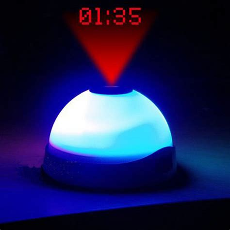 light projection alarm clock led projection alarm clock night light color changing