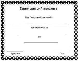certificate of attendance seminar template certificate of attendance template certificate templates