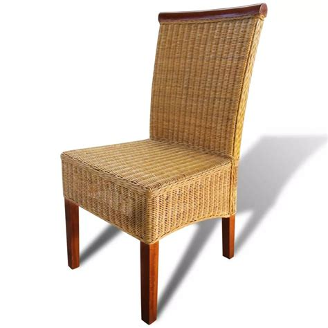 tavola con sedie set 4 sedie da tavola in tessuto di rattan con decorazioni