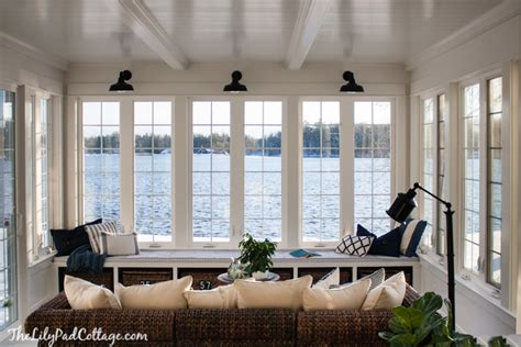 House Sun Rooms Lake House Sunroom It S Done The Lilypad Cottage