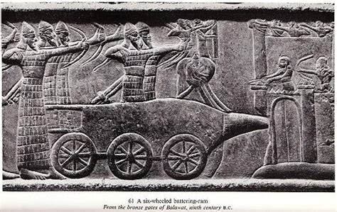 when was the battering ram invented ιs it possible that hittites and assyrians had influence