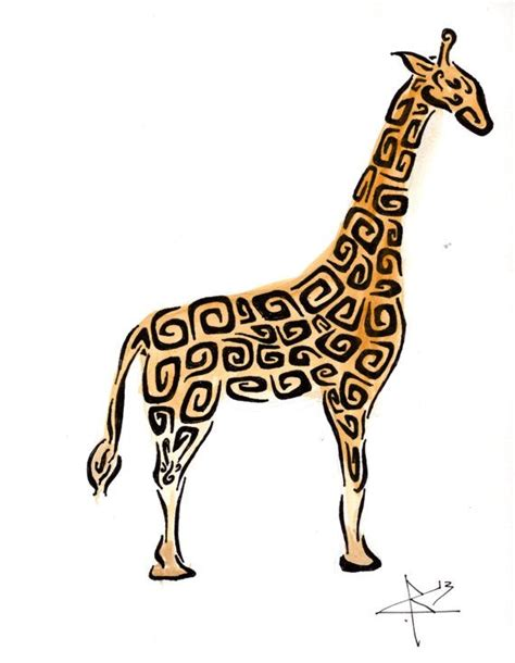 tribal pattern giraffe tribal pattern giraffe