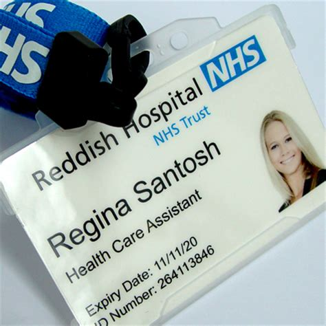nhs id card template id name tags images