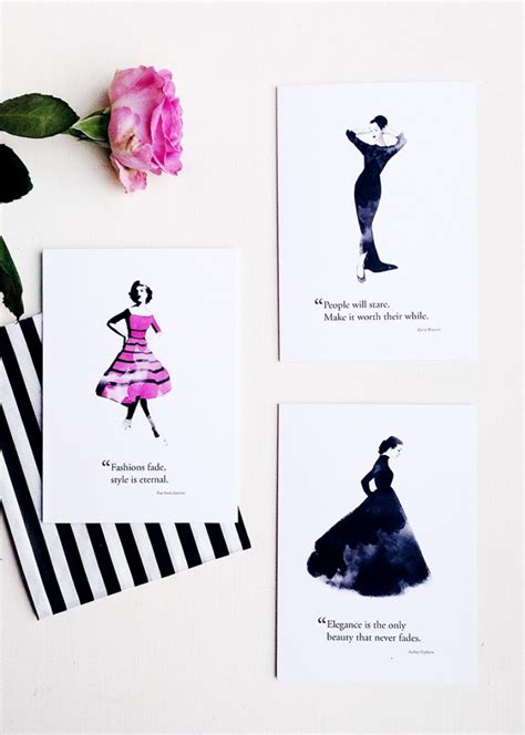 Fashion Quotes Newsletter by Fashion Quote Illustration Hepburn Georgie St Clair