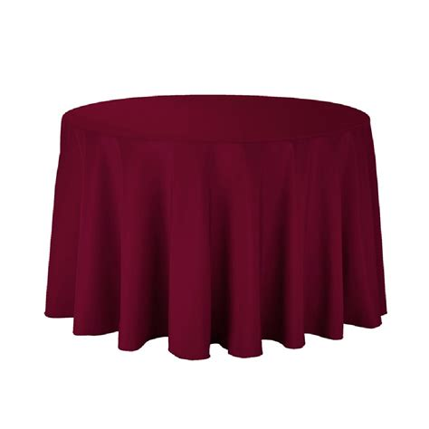 table cloth polyester tablecloth 108 quot burgundy prestige linens