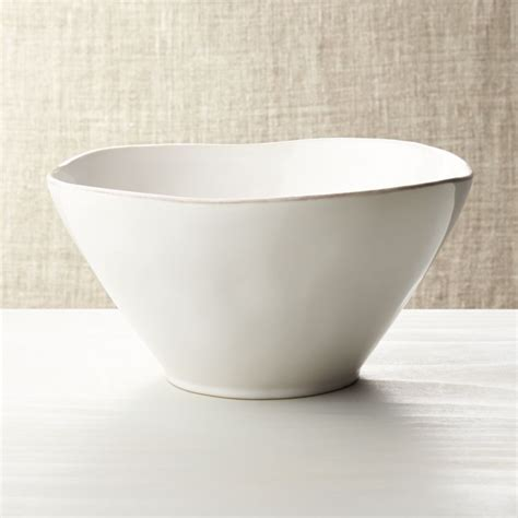 marin white small serving bowl reviews crate  barrel