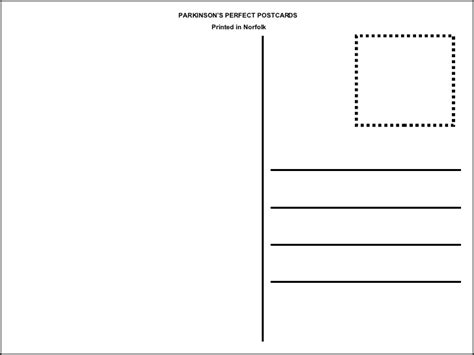 postcard template for pages postcard template