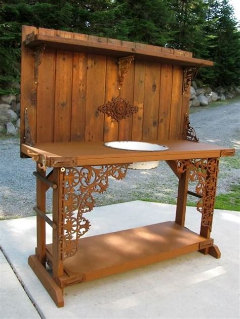 outdoor potters bench potting bench tumblr garden ideas pinterest