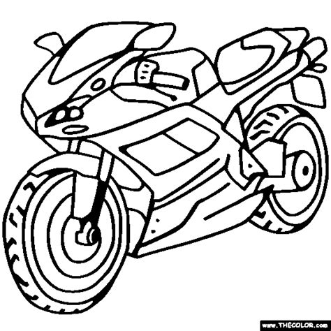 Ducati Sportbike Motorcycle Online Coloring Page sketch template