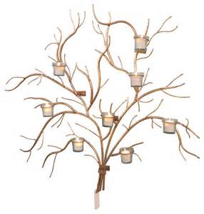 votive wall sconce large 37 quot gold branch wall candle holder tree votive