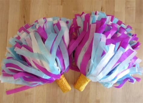 How To Make Paper Pom Poms For Cheerleading - crafts megaphone
