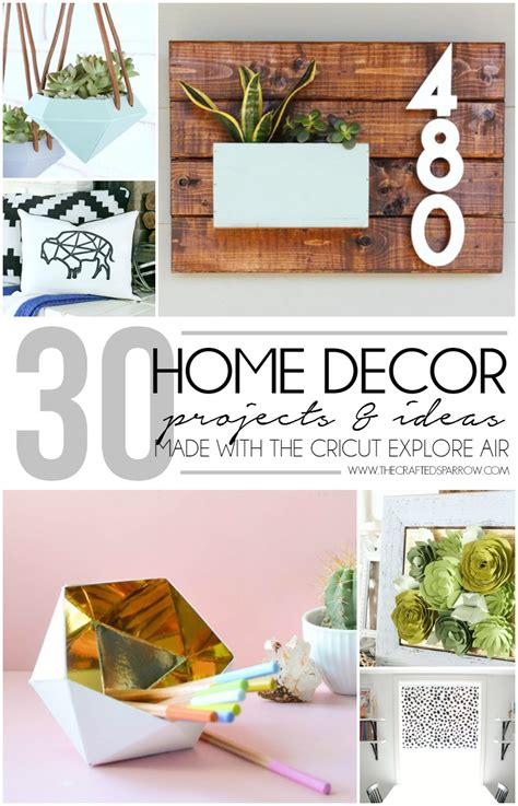 cricut home accents projects home decor ideas