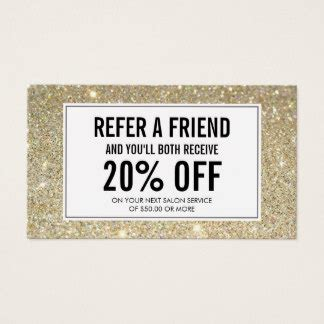 Salon Refer A Friend Card Templates by Referral Business Cards Templates Zazzle