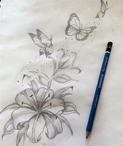 butterflies and lilies by shaza719 on deviantart