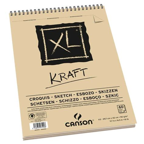 sketchbook canson xl xl 174 kraft canson