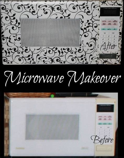 Contact Paper Craft Ideas - i guess you can contact paper the front of a microwave