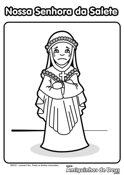 Desenhos De Nossa Senhora Para Colorir
