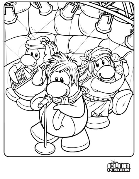 Club Penguin Color Pages Az Coloring Pages Club Penguin Coloring Pages