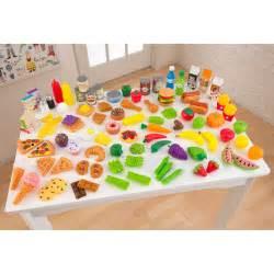 kidkraft tasty treats pretend play food set 63330 play