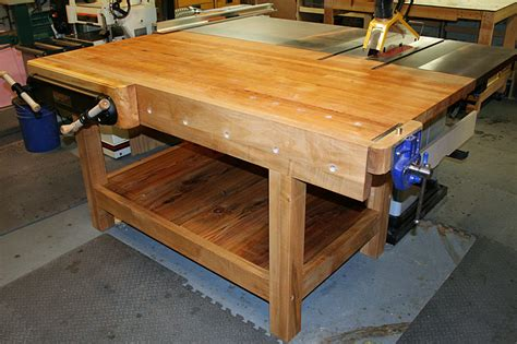 table saw work bench workbench doubles as table saw out feed table why don t
