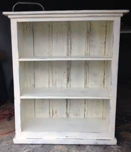 Distressed Bookcases Bookcase Cream Distressed Shabby Chic Ready To Ship