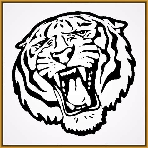 imagenes para pintar tigre caras de tigres para pintar colorear imagui