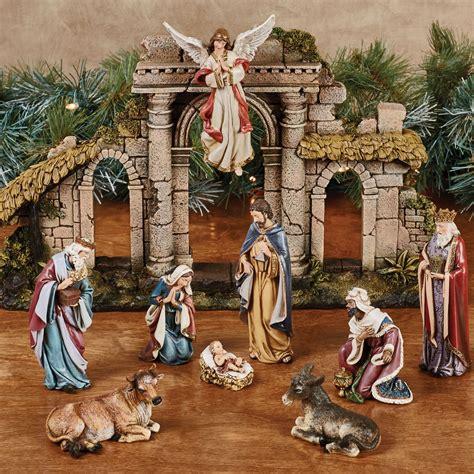 nativity set clearance heirloom nativity set multi warm set of twelve images frompo