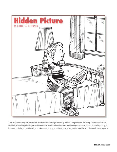 coloring page reverent child funstuff hidden pictures