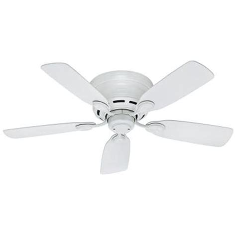 low profile white ceiling fan with light low profile 42 in indoor snow white ceiling fan 51059 the home depot