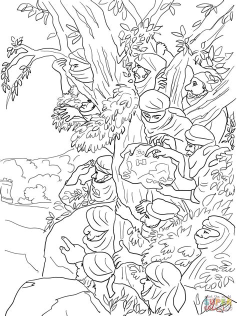 12 spies sent to canaan coloring page free printable