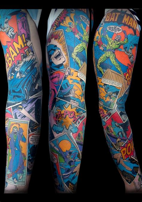 comic strip tattoo designs 25 best ideas about batman sleeve on