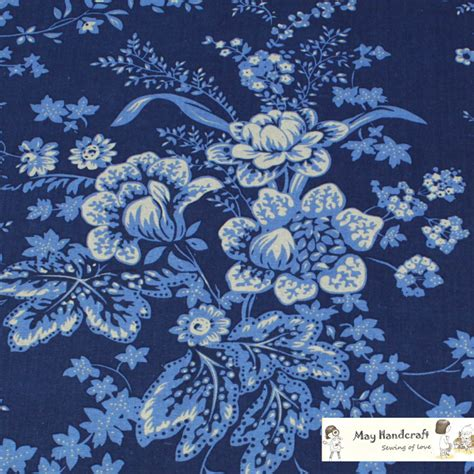 Linen Floral Pattern Navy popular navy print fabric buy cheap navy print fabric lots from china navy print fabric
