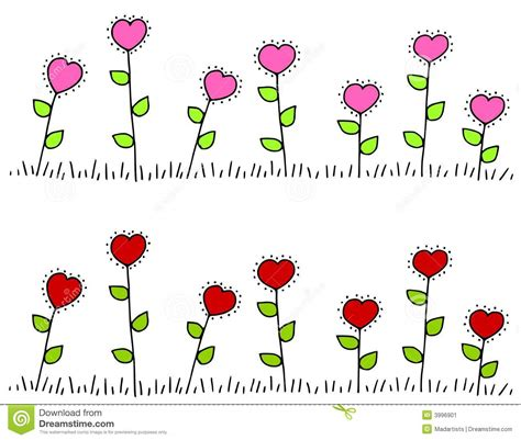 clipart bordi bordi a forma di fiore cuore rosa rosso immagine