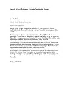 Thank You Letter Award Scholarship donor thank you letter sample sample acknowledgementthank you letter