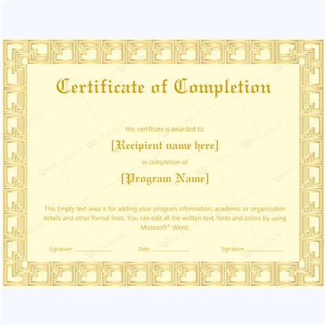 membership certificate template word certificate of completion 23 word layouts