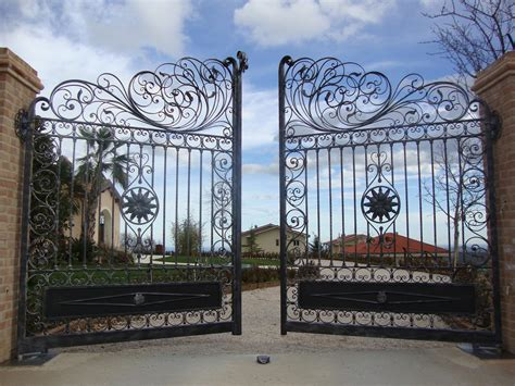 wrought iron gate nearly all homes in our area a backyard due to proximity between homes