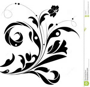 black flower pattern silhouette royalty free stock photo