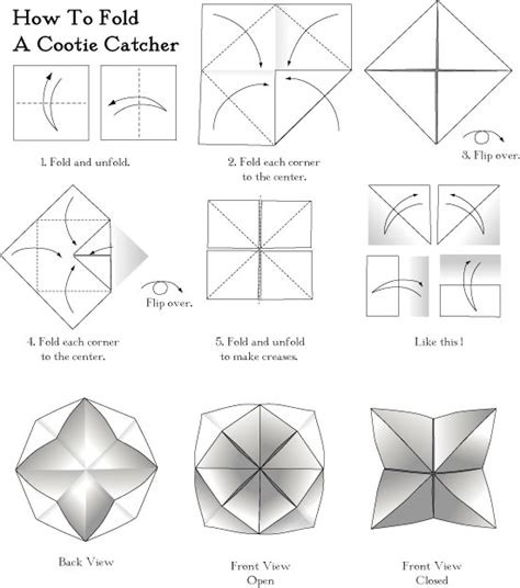 How To Make Cootie Catchers Out Of Paper - make a cootie catcher
