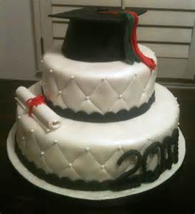 Graduation party with this classy three tiered graduation cap cake