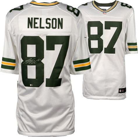 jordy nelson green bay packers jersey jordy nelson green bay packers autographed white nike