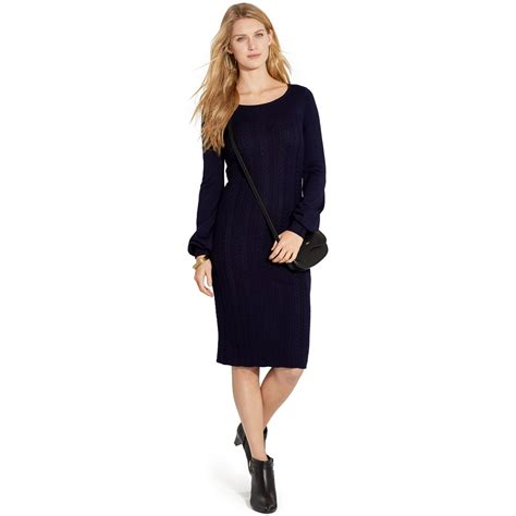 cable knit sweater dresses by ralph boat neck cable knit sweater dress