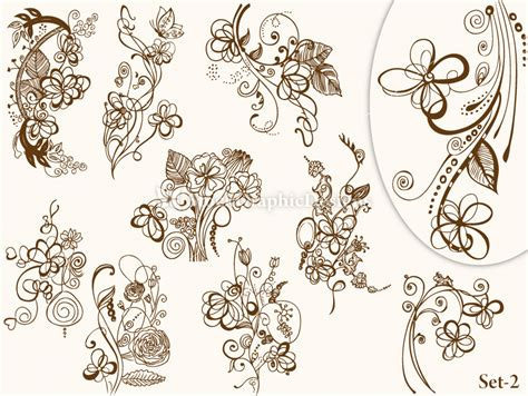 illustrator tutorial floral swirl ornaments butterfly vintage heraldic shield with floral ornament vector set 2