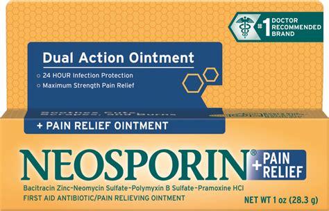 wound care neosporin relief ointment neosporin 174
