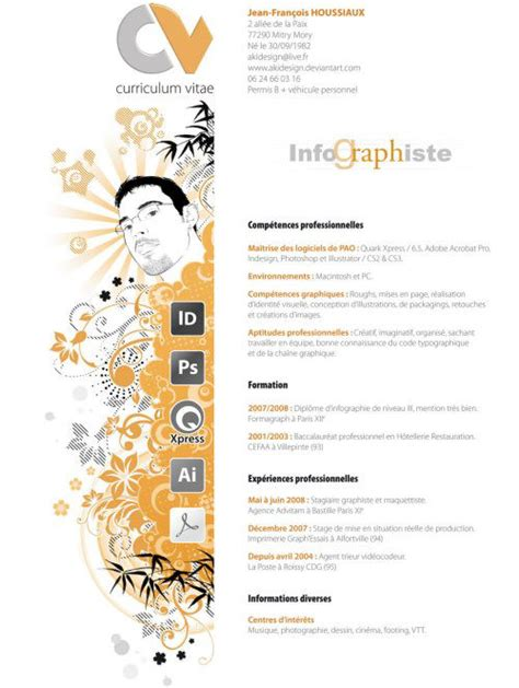 curriculum vitae sle for designer 45 creative resumes to seize attention hongkiat